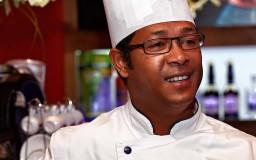 Le chef et la cuisine gastronomique